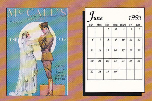 June 1993 Limited Editon Calendar Card Hippostcard