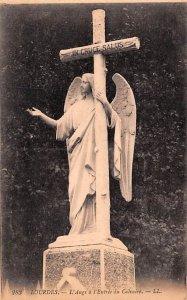 L'Ange a l'Entr»e du Calvaire Lourdes France Unused