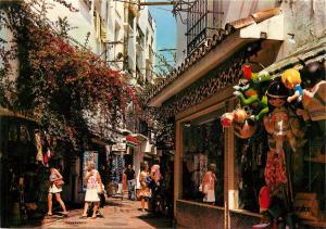 Spain Marbella Rue Calle The G. Gonzales Badia Street Le rue Postcard