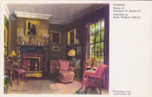 New York Hyde Park Snuggery At Home Of Franklin D Roosevelt Painted By Ruth P...