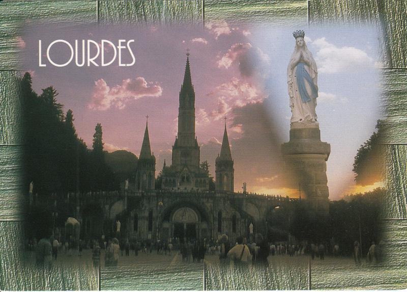 FRANCE LOURDES THE BASILICA AND THE CROWN VIRGIN