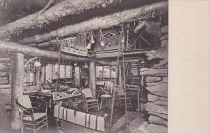 Vermont Rutland Main Living Room Long Trail Lodge Albertype