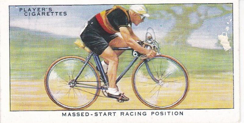 Cigarette Cards Players CYCLING No 44 Massed-Start Racing Position