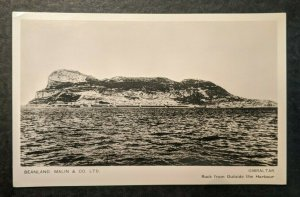 Mint Vintage Gibraltar Rock from Outside the Harbour Real Photo Postcard RPPC
