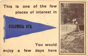 F64/ Columbia Station Ohio Pennant Postcard c1910 Places of Interest