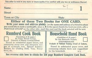 Household Hand Book Advertising Unused