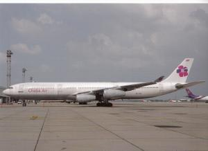 CHABA AIR, A340-311, unused Postcard
