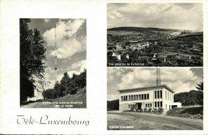 luxemburg, DUDELANGE, Tele-Luxembourg Station d'émission (1957) RPPC Postcard