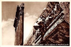 Lebanon Baalbeck Les six colonnes du temple de Jupiter