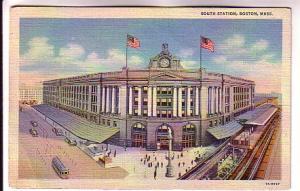 South Railway Station, Boston, Massachusetts, Slogan Cancel, Savings Bonds 1938
