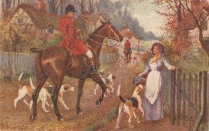Norah Drummond. Horses. the Hunt Day Tuck Oilette  Postcard # 9923