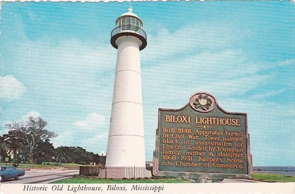 Historic Old Lighthouse Biloxi Mississippi Hippostcard