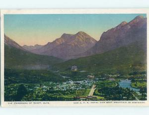Unused W-Border TOWN VIEW SCENE Banff Alberta AB o1094