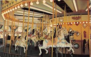 Sandusky, Ohio, OH, USA Postcard Merry Go Round, Cedar Point 1965