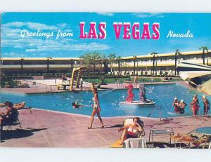 Pre-1980 SWIMMING POOL AT DUNES CASINO HOTEL Las Vegas Nevada NV B2473