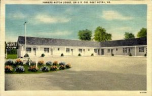 Powers Motor Court - Port Royal, Virginia