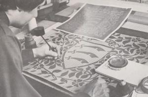Essex Heraldry Inscription Jacquard Design Halstead Handloom Weavers Postcard