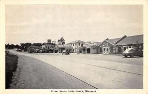Lake Ozark Missouri Street Scene Store Fronts Antique Postcard K59604