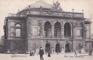 Copenhagen Denmark Theatre Antique Postcard
