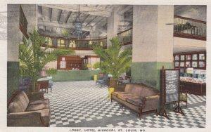 ST LOUIS , Missouri , 1910s ; Lobby , Hotel Missouri