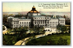 Vintage 1910 Postcard Panoramic View of the Library of Congress Washington DC
