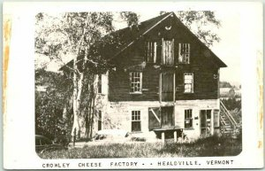 Healdville, Vermont RPPC Real Photo Postcard CROWLEY CHEESE Factory c1950s