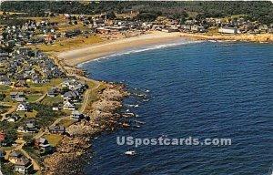 Aerial View ocean drives in York Beach, Maine