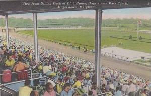 Maryland Haggerstown View From Dining Deck Of Club House Haggerstown Race Track