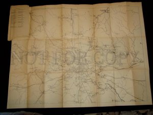 090285 Vintage BOOK MAP vicinities of Moscow 1926 year RUSSIA