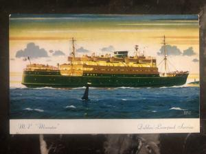 Mint Ireland PPC Postcard MV Munster Passengers Ship Dublin Liverpool
