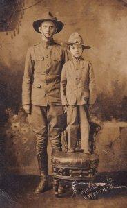 RP: CLEMSON COLLEGE , South Carolina, 1917 ; CAC Cadet & Boy