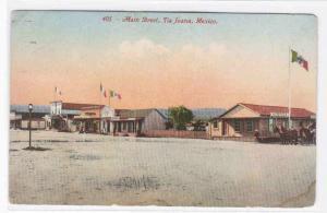 Main Street Tijuana Mexico 1916 postcard
