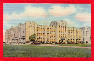 Greenport School, Greenport, Long Island, New York, Early Linen Postcard, Unused