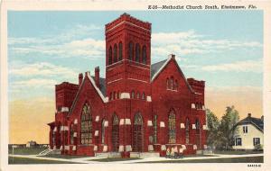 A90/ Kissimmee Florida Fl Postcard c1930s Methodist Church South