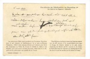 Fac-Simile de l´Abdication de Napoleon 1st, France, 00-10s