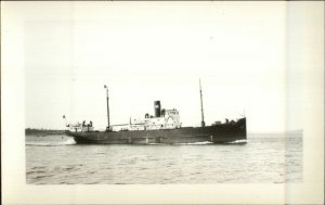SS CORNISH Eastern Steamship SS Co of Maine Real Photo Postcard