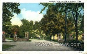 Entrance To Weed Park Muscatine IA 1931
