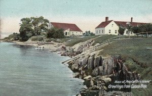 CASCO BAY, Maine, 1901-07; Greetings, Home of Pearl of Orrs Island