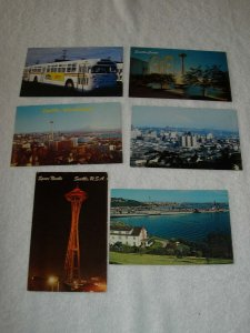 Seattle WA - Lot Of 6 Great Vintage Postcards - x0521