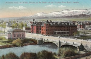 RENO , Nevada , 1913 ; Riverside Hotel & Library