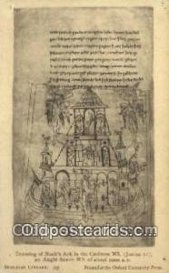 Drawing of noahs ark in the caedmon ms  Religion, Religious Old Vintage Antiq...