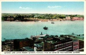 Quebec Canada Q and Levis Ferry Postcard unused 1915-30s