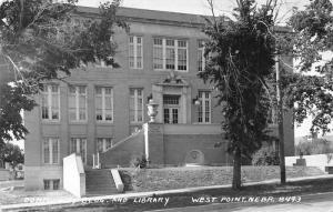 West Point Nebraska~Community Building & Public Library~1940s Real Photo~RPPC