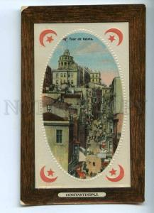 241103 TURKEY CONSTANTINOPLE Tour de Galata Vintage embossed