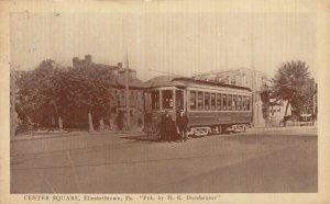 ELIZABETHTOWN , Pennsylvania, 1916 ; Trolly at Center Square