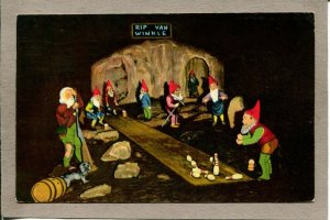 Postcard TN Lookout Mountain Rip Van Winkle Fairyland Caverns Rock City 918N