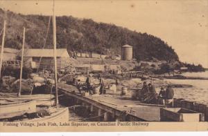 ONTARIO, Canada; Fishing Village, Jackfish, Lake Superior, on Canadaian Pacif...