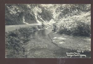 RPPC BRUSHES CREEK OREGON COAST HIGHWAY VINTAGE REAL PHOTO POSTCARD