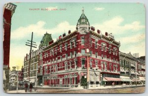 Lima Ohio~Faurot Building w/Two Fancy Mansard Roof Towers~Corner Entrance~c1910