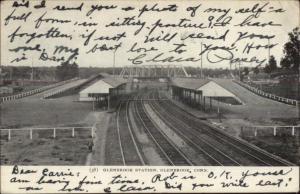 Glenbrook CT RR Train Station c1910 Postcard